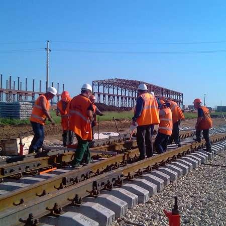 строительство железнодорожных путей